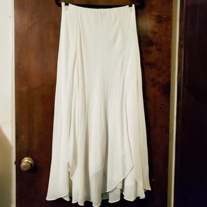 Lauren Ralph Lauren | Off White Silk Maxi Skirt S